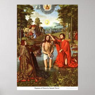Bautismo de Cristo de Gerard David Póster