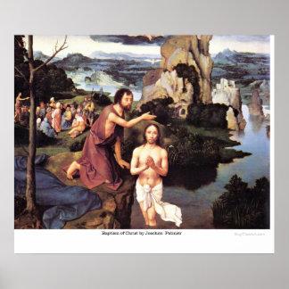 Bautismo de Cristo de Joaquín Patinier Póster