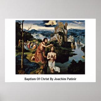 Bautismo de Cristo de Joaquín Patinir Póster