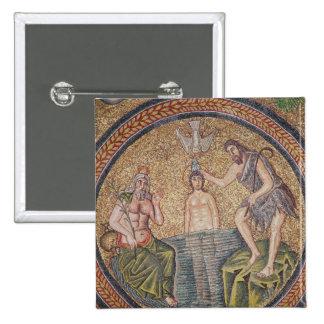 Bautismo de Cristo de San Juan Bautista Chapa Cuadrada 5 Cm
