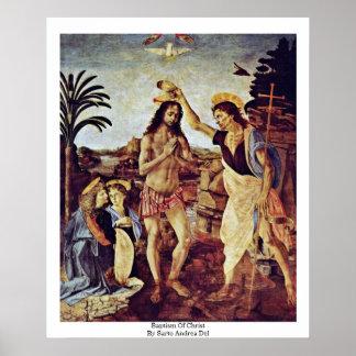 Bautismo de Cristo de Sarto Andrea Del Poster