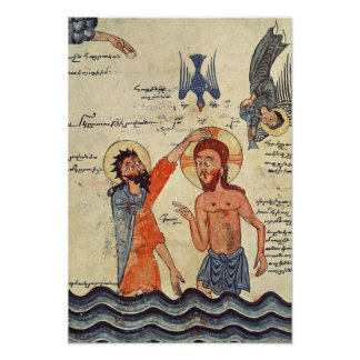 Bautismo de Cristo, de un evangelio Poster