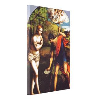 Bautismo de Cristo por Parmaiggani Impresión En Tela