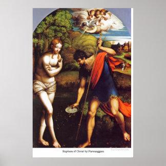 Bautismo de Cristo por Parmaiggani Posters