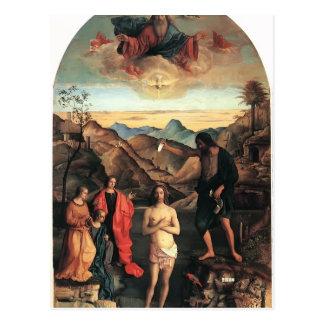 Bautismo de Juan Bellini- de Cristo Altarpiece Postal