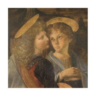 Bautismo de los ángeles de Cristo de Leonardo da Impresión En Madera