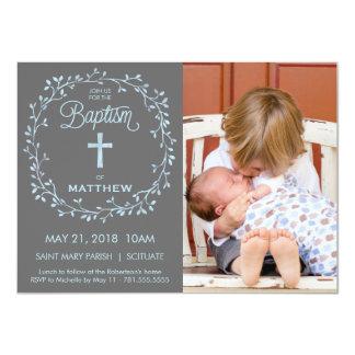 Bautismo, invitación de Phto del bautizo - los