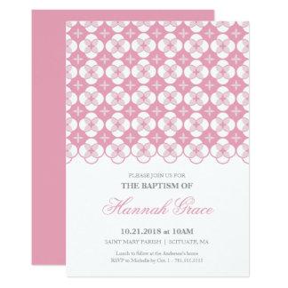 Bautismo, invitación del bautizo - la niña invita