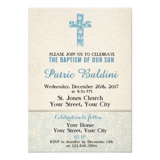 Bautismo, invitación del bautizo para el MUCHACHO