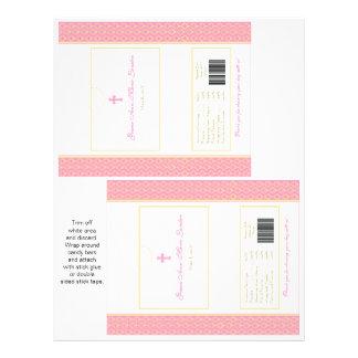Bautismo o 1ras envolturas de caramelo de la folleto 21,6 x 28 cm