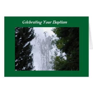 bautismo tarjeta de felicitación