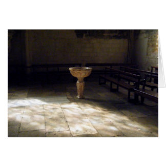 Bautismo tarjeta del bautizo