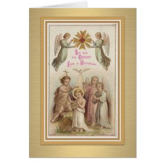 Bautismo w/Jesus, San Juan Bautista, ángeles de la Tarjeta