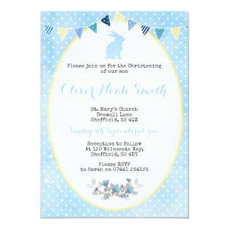 Bautizo del conejo del bebé/invitación del invitación 12,7 x 17,8 cm