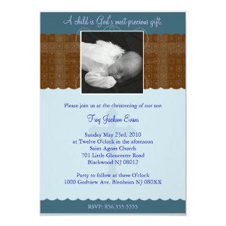 Bautizo del muchacho/invitación del bautismo invitación 12,7 x 17,8 cm