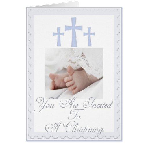 Bautizo/invitación del bautismo para el bebé felicitacion