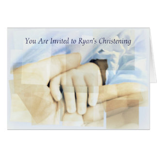 Bautizo/invitación del bautismo tarjeta de felicitación