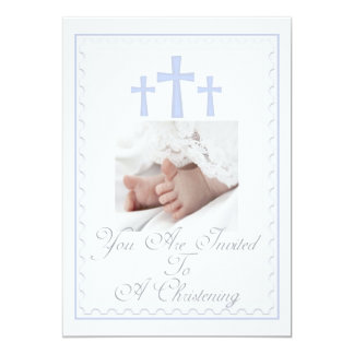 Bautizo/invitación del hijo del bautismo invitación 12,7 x 17,8 cm