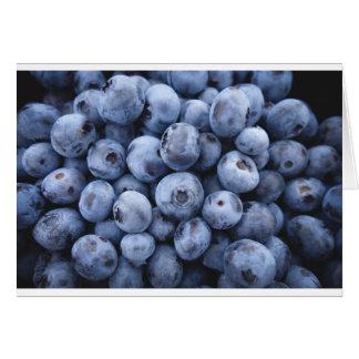 Baya de las bayas de la fruta del bocado de los tarjeta de felicitación