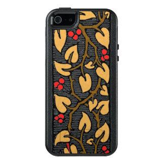 Bayas y hojas rojas en la vid funda otterbox para iPhone 5/5s/SE