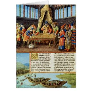 Bayezid I que recibe el rescate Tarjetón