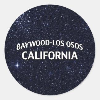 Baywood-Los Osos California Etiquetas Redondas