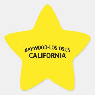 Baywood-Los Osos California Pegatinas Forma De Estrellaes