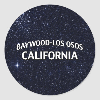 Baywood-Los Osos California Pegatina Redonda