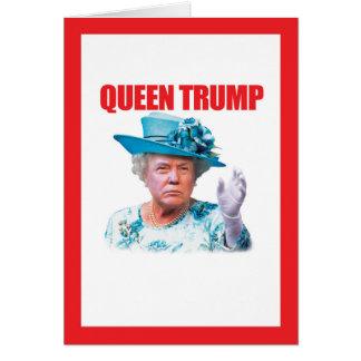Baza de la reina de Donald Trump Tarjeta De Felicitación