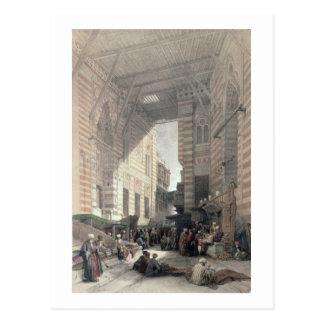 Bazar de los comerciantes de seda, El Cairo, de Postal