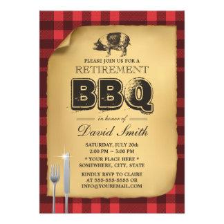 Bbq clásico del fiesta de retiro de la carne asada comunicado personalizado