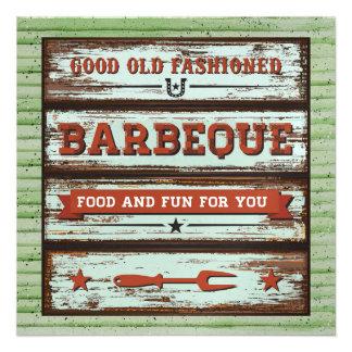 ¡Bbq Cookout cerdo Pickin Invitación