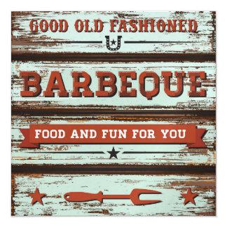 ¡Bbq, Cookout, cerdo Pickin! Invitación 13,3 Cm X 13,3cm