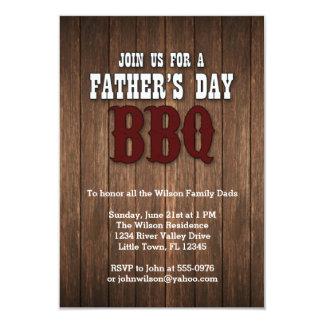 Bbq del día de padre invitación 8,9 x 12,7 cm