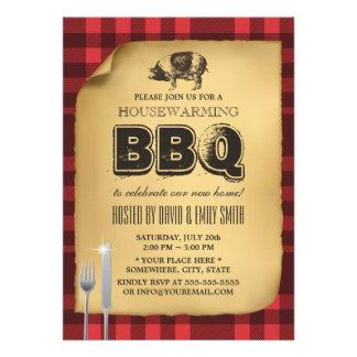 Bbq del estreno de una casa de la carne asada del comunicados personalizados