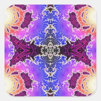 BBQSHOES: Diseño del arte del fractal de A15z Pegatina Cuadrada
