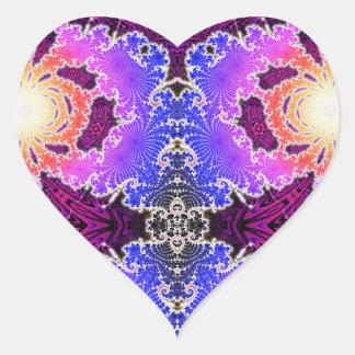 BBQSHOES: Diseño del arte del fractal de A15z Pegatina En Forma De Corazón