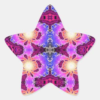 BBQSHOES: Diseño del arte del fractal de A15z Pegatina En Forma De Estrella
