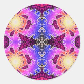 BBQSHOES: Diseño del arte del fractal de A15z Pegatina Redonda