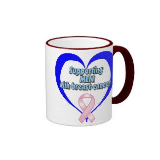 BCA - Cáncer favorable de los HOMBRES w/breast Taza De Dos Colores