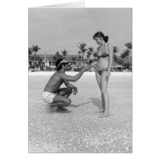 Beachcombers, isla de Marco, la Florida, 1978 Tarjeton