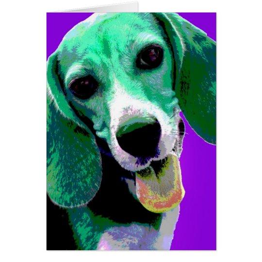 Beagle del ARTE POP Tarjeta De Felicitación