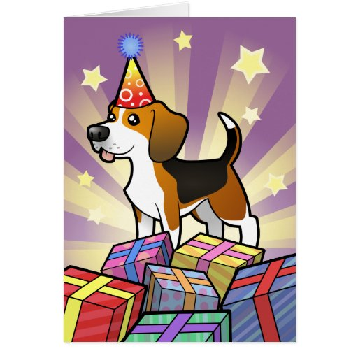 Beagle del cumpleaños tarjeton