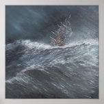 Beagle del HMS en una tormenta del cabo de Hornos Póster