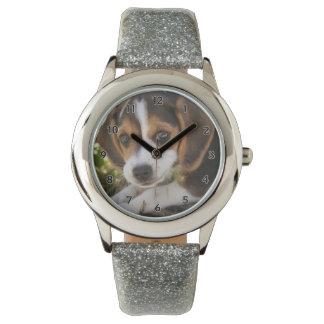 Beagle del perro de perrito relojes de mano