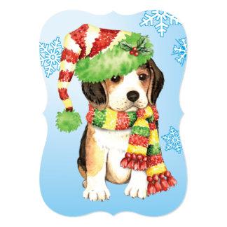 Beagle feliz de Howlidays Invitación 12,7 X 17,8 Cm