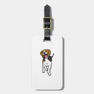 Beagle feliz etiquetas para maletas