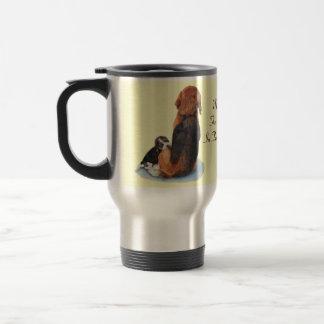 Beagle lindo del perrito con arte del realista del taza de viaje
