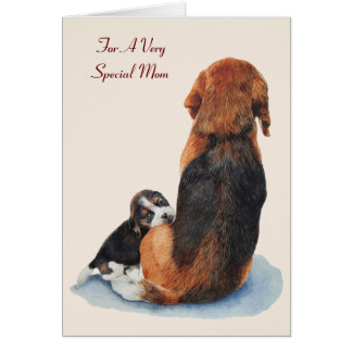 beagle lindo del perrito con verso de la original tarjeta de felicitación