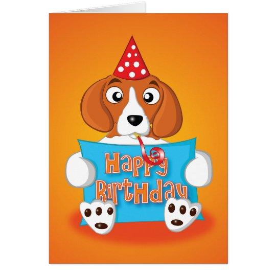 beagle - muestra - feliz cumpleaños tarjeta de felicitación